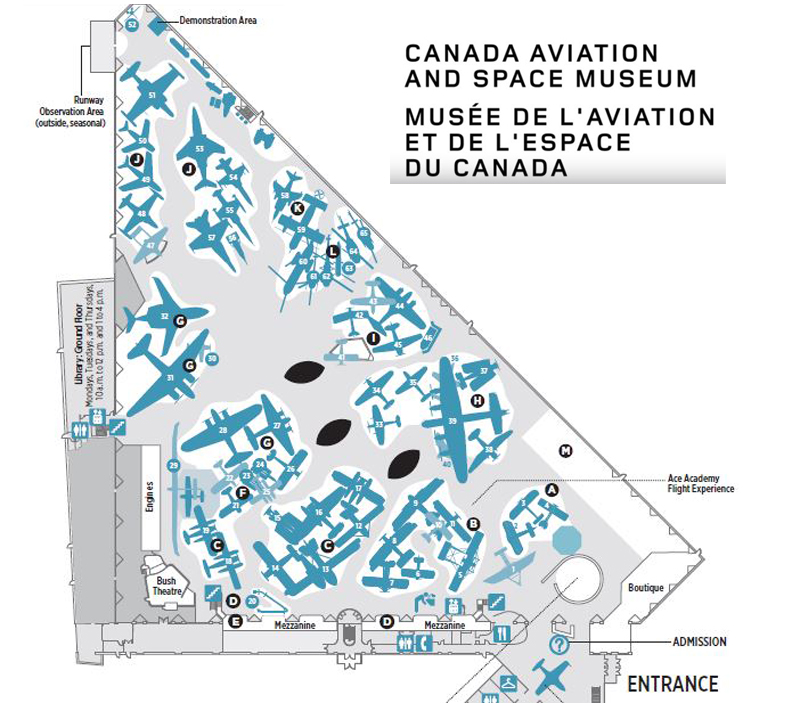 Canada Aviation and Space Museum Layout